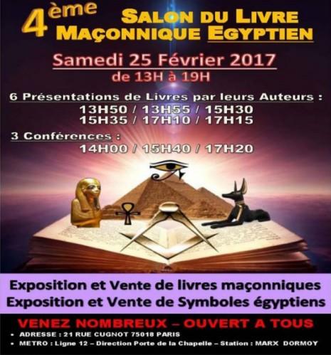 G l t iquatrieme salon du livre maconnique egyptien g l t i for Salon egyptien